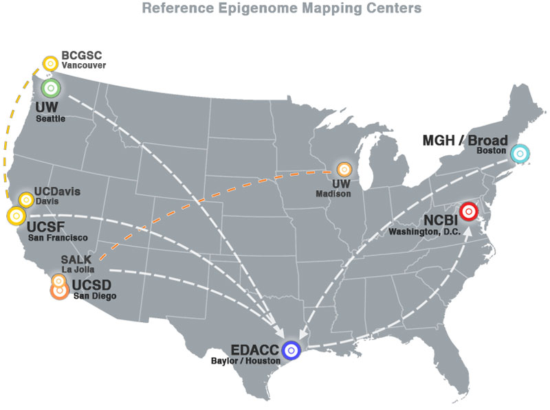 Roadmap Epigenomics Project Mapping